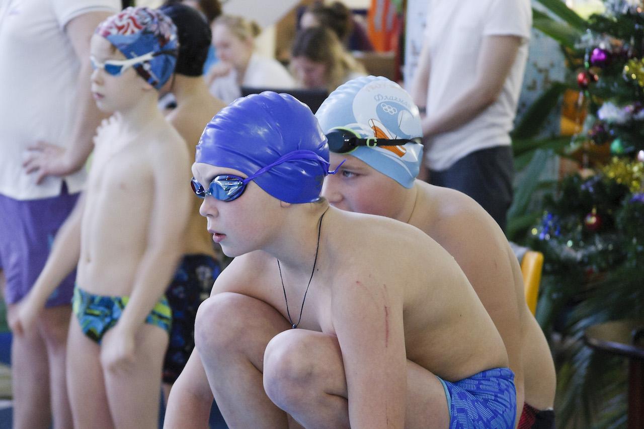Соревнования по плаванию (дети)